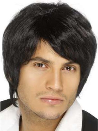 Natural Remy Human Hair Men Wigs