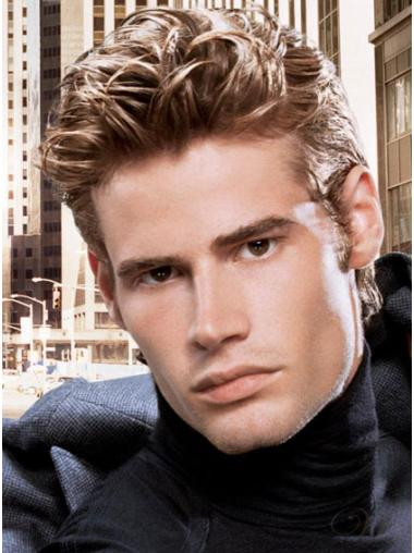 Straight Lace Front Remy Human Hair Men Wigs