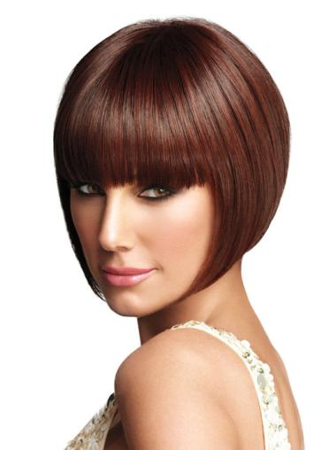 Auburn Straight Synthetic Bob Wigs