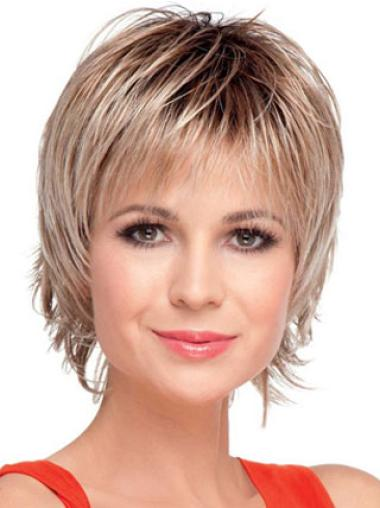 Blonde Synthetic Short Wigs