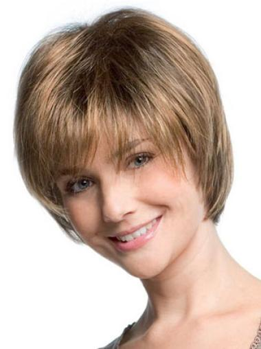 Blonde Straight Synthetic Short Wig
