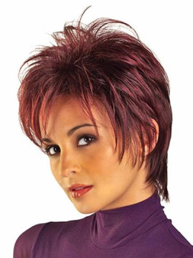 Great Red Synthetic Short Wigs