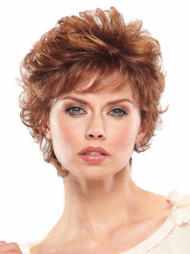 Hairstyles Auburn Wavy Synthetic Short Wigs