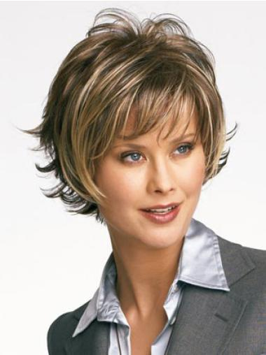 Modern Blonde Wavy Synthetic Short Wigs