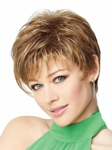 Online Cropped Synthetic Cancer Wigs
