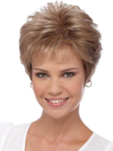 Quality Blonde Wavy Synthetic Short Wigs