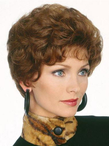 Style Brown Wavy Synthetic Short Wigs