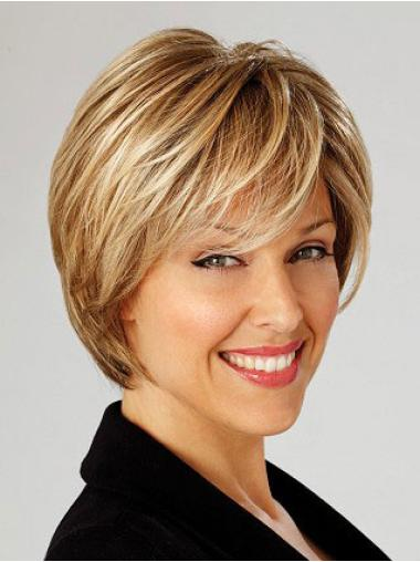 Comfortable Short Blonde Lace Front Wigs