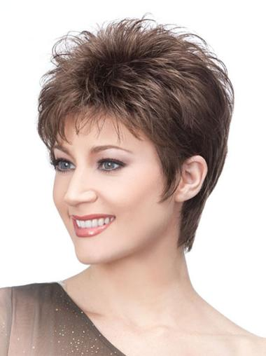 Best Brown Straight Synthetic Short Wigs
