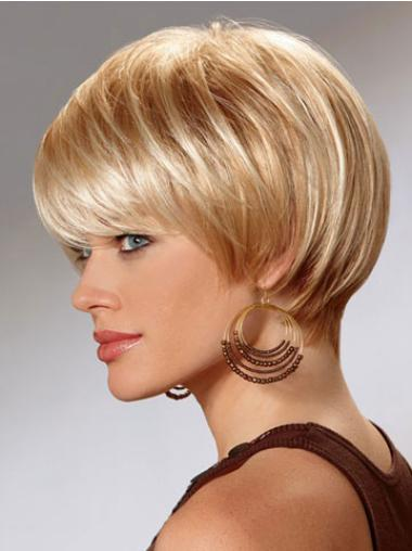 Classy Auburn Straight Synthetic Short Wigs