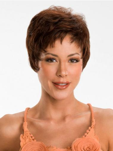 Discount Auburn Straight Synthetic Short Wigs
