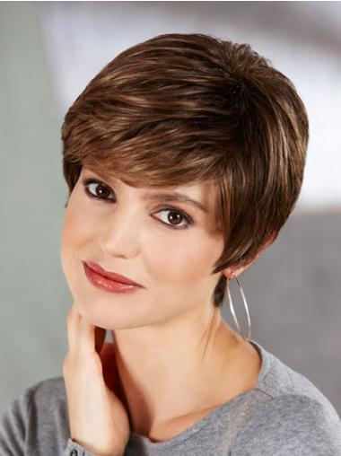 Good Brown Straight Synthetic Short Wigs