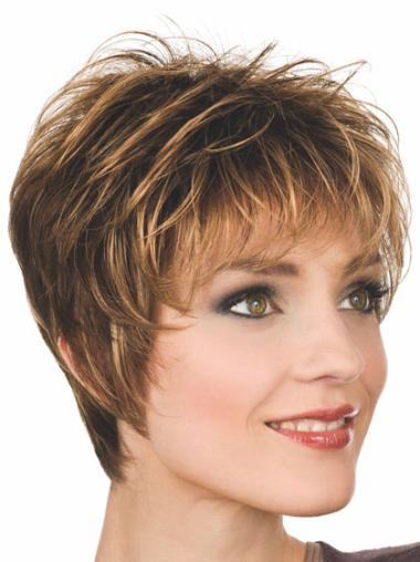 Online Blonde Straight Synthetic Short Wigs