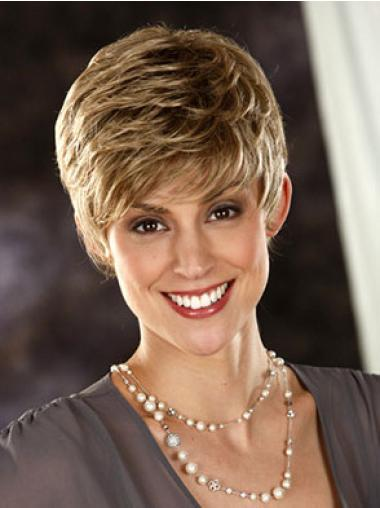 Perfect Blonde Wavy Synthetic Short Wigs