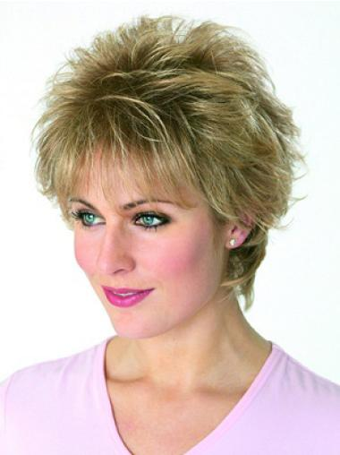 Stylish Blonde Wavy Synthetic Short Wigs