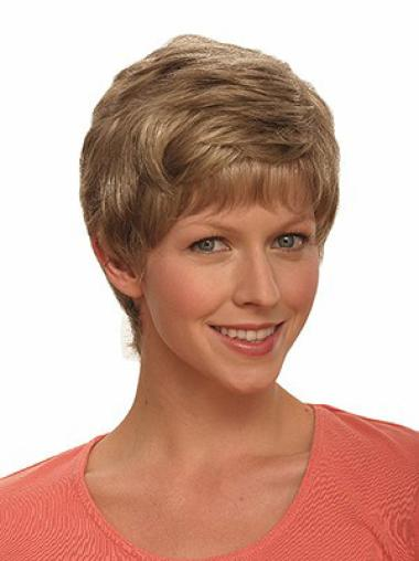 Suitable Brown Wavy Synthetic Short Wigs