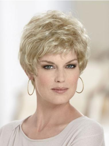 Top Blonde Wavy Synthetic Short Wigs