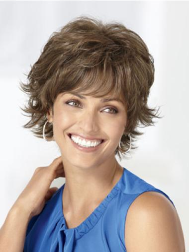 Wonderful Brown Wavy Synthetic Short Wigs