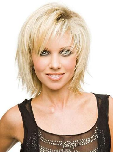 Comfortable Blonde Synthetic Short Wigs