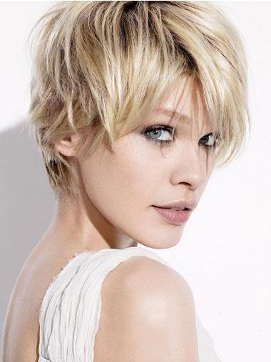 Straight Remy Human Hair Short Wigs