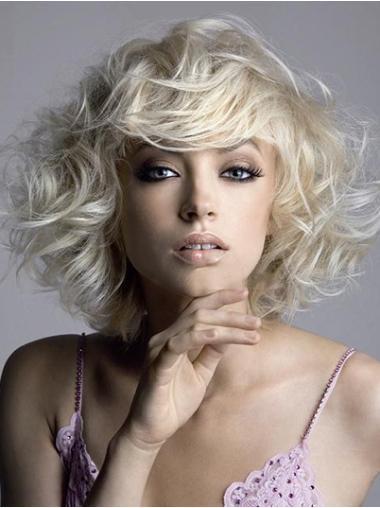 Blonde Wavy Short Wigs