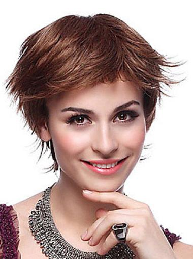 Quality Auburn Straight Synthetic Short Wigs