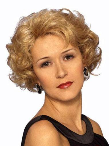 Modern Short Blonde Lace Front Wigs