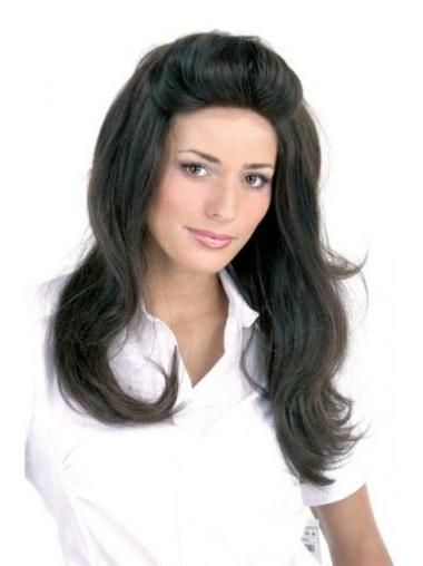 Comfortable Long Human Hair Lace Front Wigs