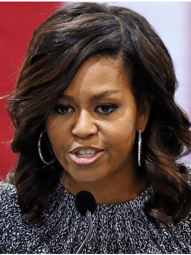 "Ombre/2 tone Lace Front Wavy With Bangs 14"" Michelle Obama"