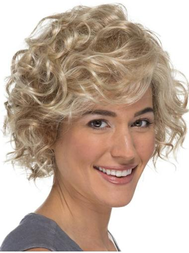 """Curly 8"""" Blonde Classic Lace Wig"""