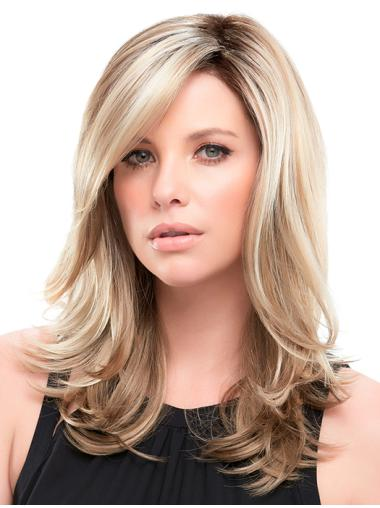 "Synthetic Layered Blonde Wavy 16"" Long Wigs"