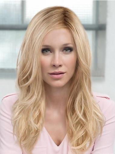 """Layered 18"""" Long Blonde Monofilament Synthetic Hair Wig"""