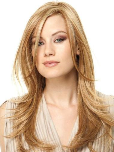 "18"" Long Layered Synthetic Blonde Glamour Wigs"