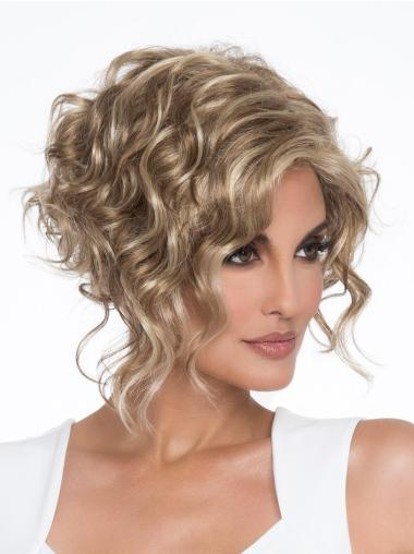 Capless Blonde Synthetic Short Pixie Style Wigs
