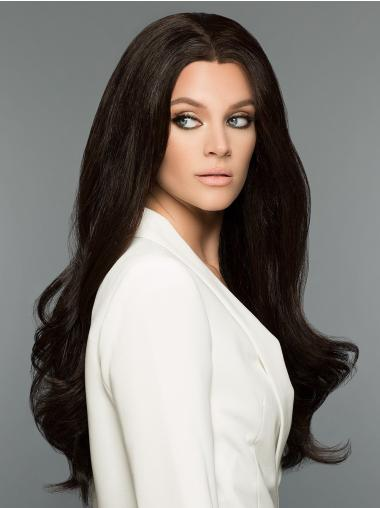 """100% Hand-tied Without Bangs 26"""" Long 100% Human Hair Wigs"""