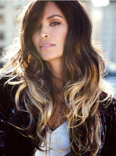 Ombre/2 tone Long Synthetic Hand tied Wig