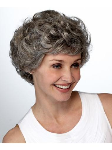 Short Curly Lace Front Synthetic Wigs