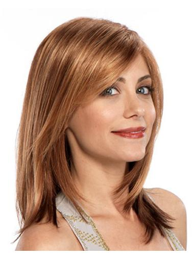 Shoulder Length Auburn Straight Synthetic Wigs