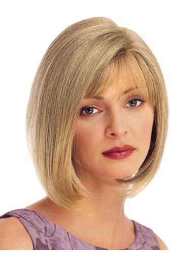 Modern Short Blonde Hand-tied Wigs