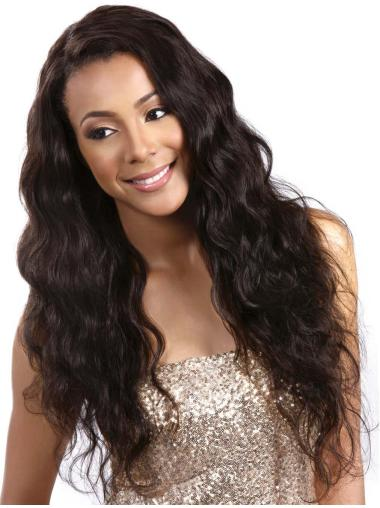 Affordable Black Wavy Long Capless Popular Wigs