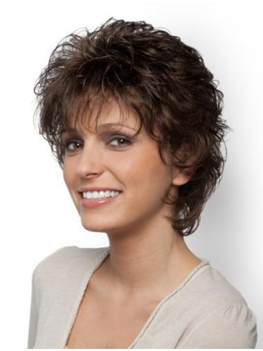 Comfortable Curly Brown Classic Fabulous Wigs