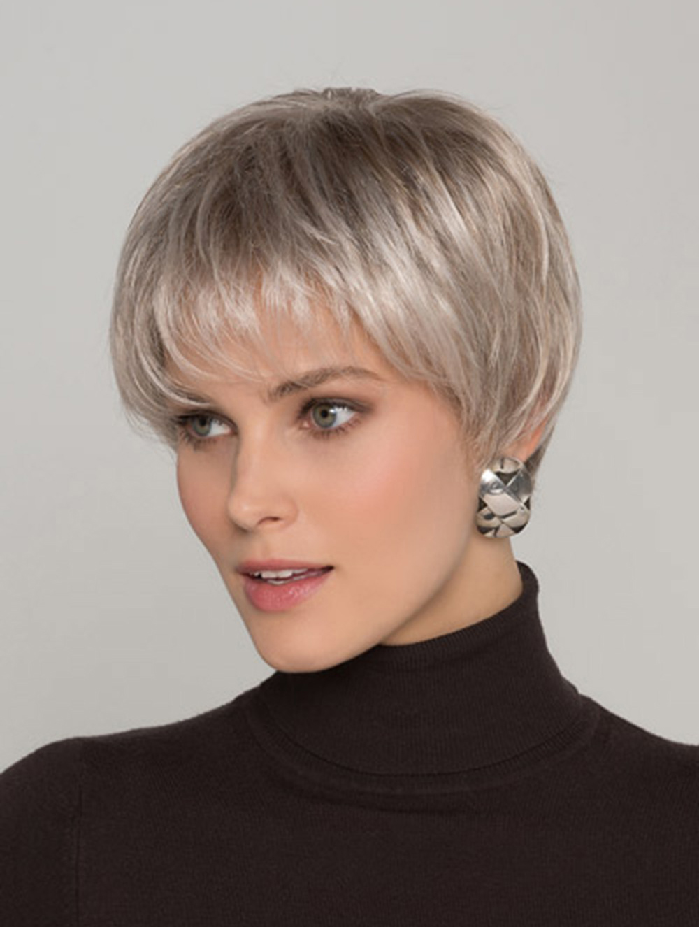 straight grey 8 inches boycuts short hairstyles