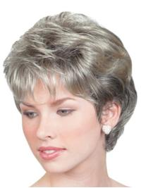 Grey Sassy Chin Length Wigs (SKU  HW15121) a102c7213147